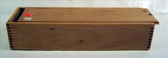 5006: Wood box slide cover dove tailed