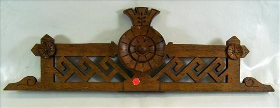 5012: Oak wood top dresser piece