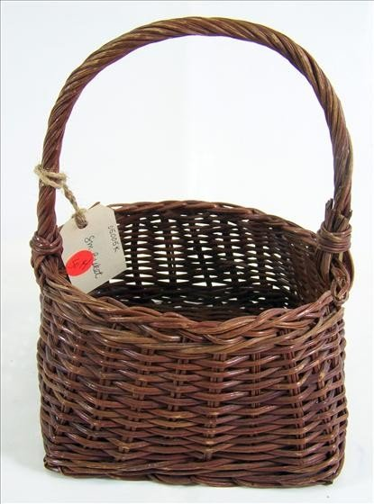 """5014: Wicker basket - small 6 1/2"""""""