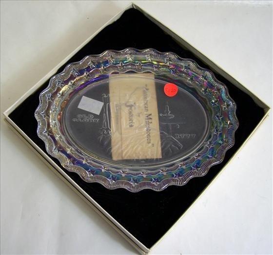 5020: Fostoria plate Old Glory 1777