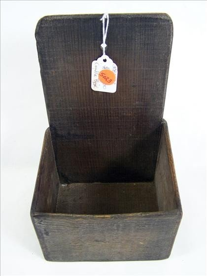5023: Old wood wall hanging candle box