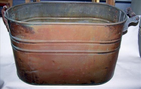 """3012: Copper wash bin - 13"""" by 21"""""""