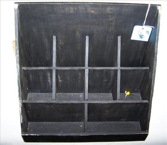 3014: Black painted wood desk top