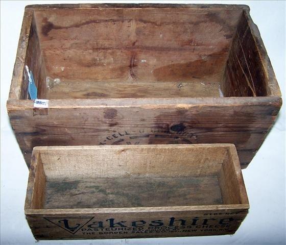 3017: 2 pc wood boxes