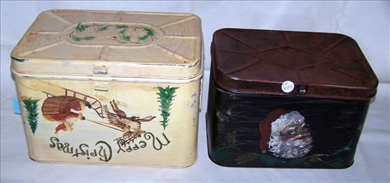 3024: 2 pc tin bread boxes