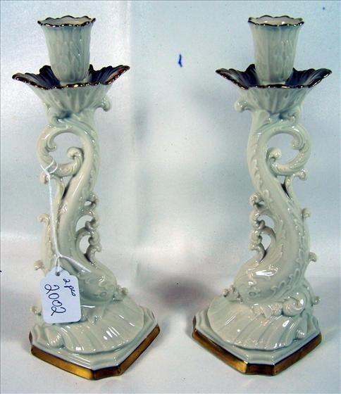 2002: Pair Lenox candle sticks Fish design