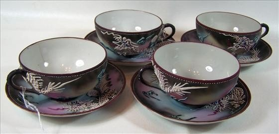 2016: 8 pc 4 sets cups and saucers