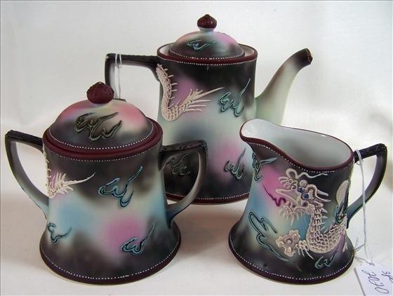 2020: 3 pc Tea pot creamer and sugar