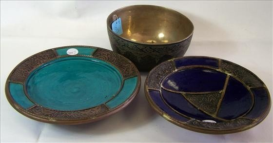 8007: 3 pc dish and bowls - Morocco and Thailand