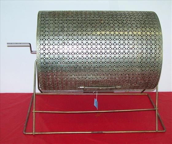 8017: Metal gold tone rotating bin