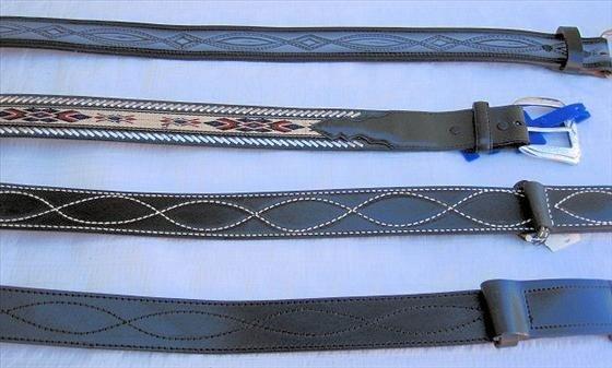 1006: 4 Belts   Leather   Size 30 & 32
