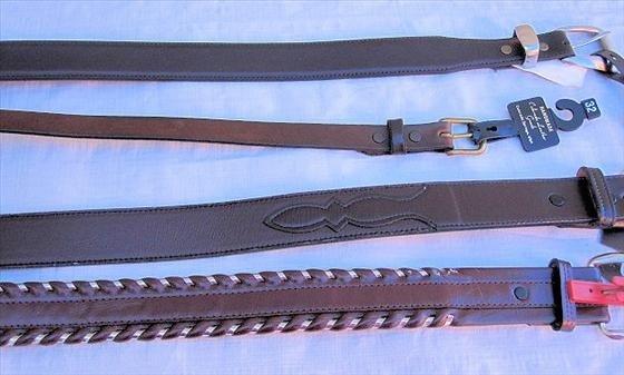 1007: 4 Belts   Leather   Size 32