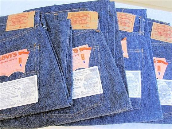 1020: 4 pr. Men's Levi's  Blue Jeans