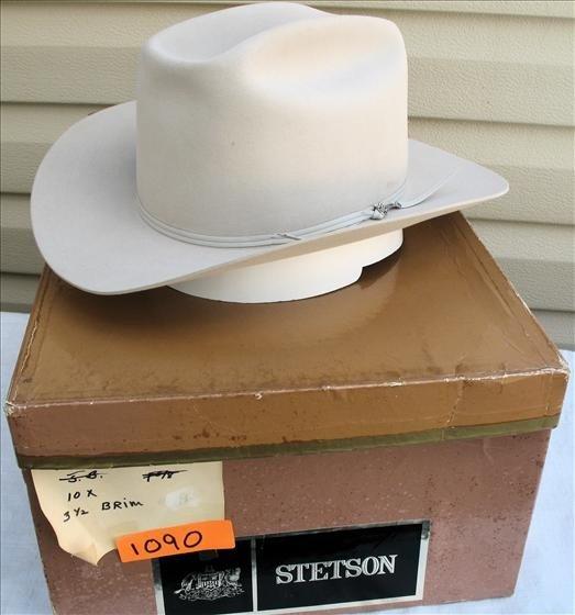 1090: Stetson Cowboy Hat, Taupe, 7x