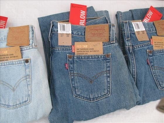 1158: 3 pr. Women's Denim Jeans  Levi's