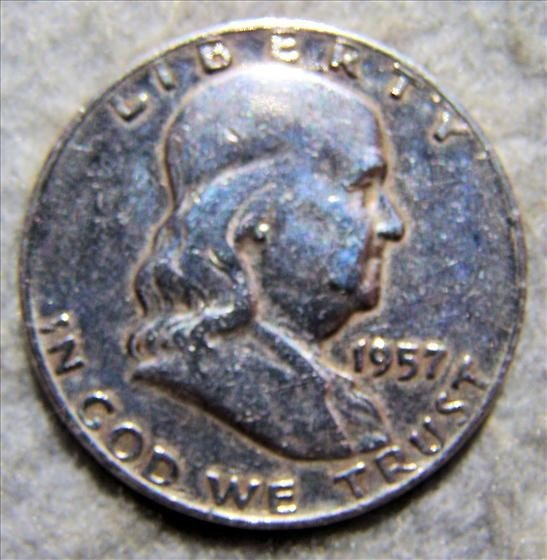 3001: 1957 D Franklin Half Dollar - Polished
