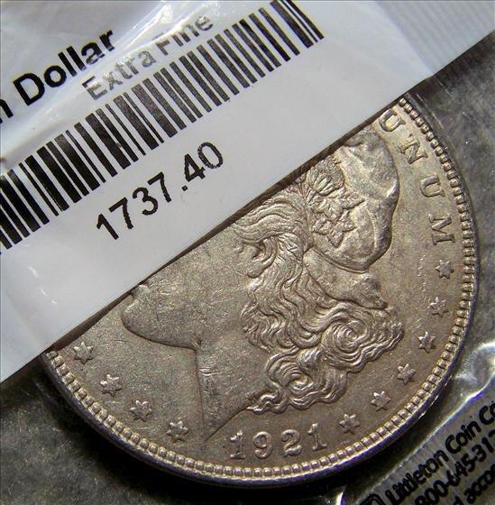 3003: 1921 Morgan Silver Dollar XF