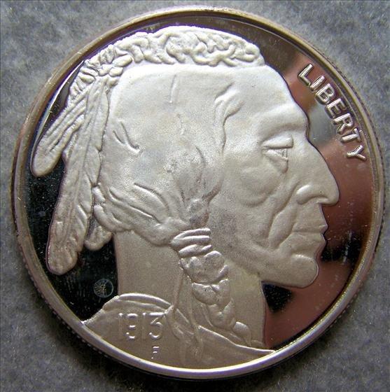 3004: Buffalo Nickel 2 Oz Silver Round