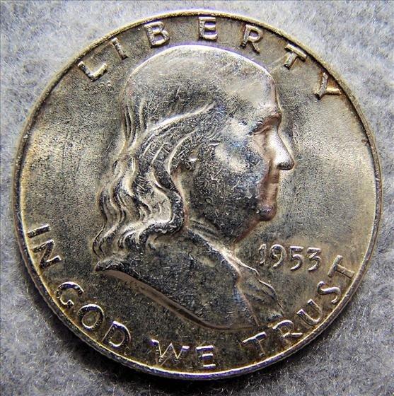 3005: 1953 D Franklin Half Dollar - Polished