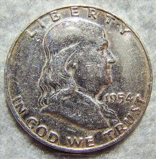3011: 1954 D Franklin Half Dollar - Polished