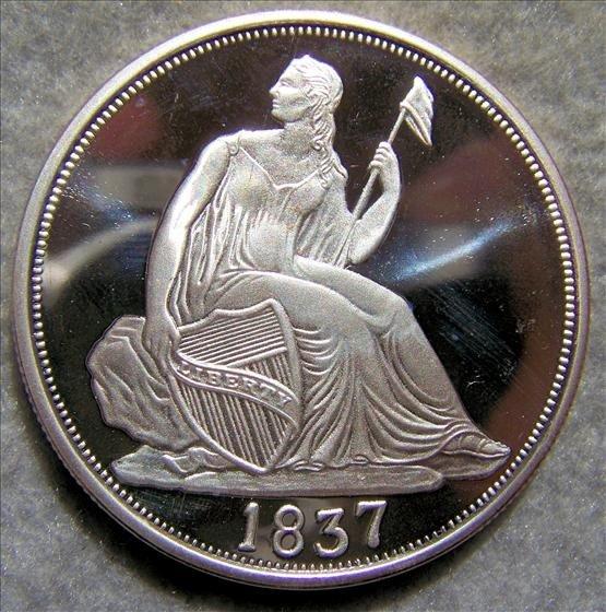 3012: Seated Liberty Dime 2 Oz Silver Round