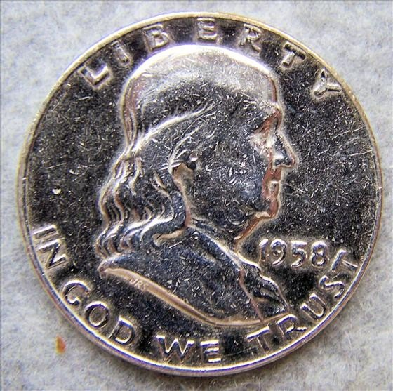3020: 1958D Franklin Half Dollar - Polished