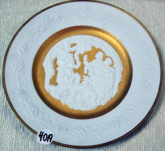 4019: 1 Franklin Porcelain, 1977 Christmas Plate