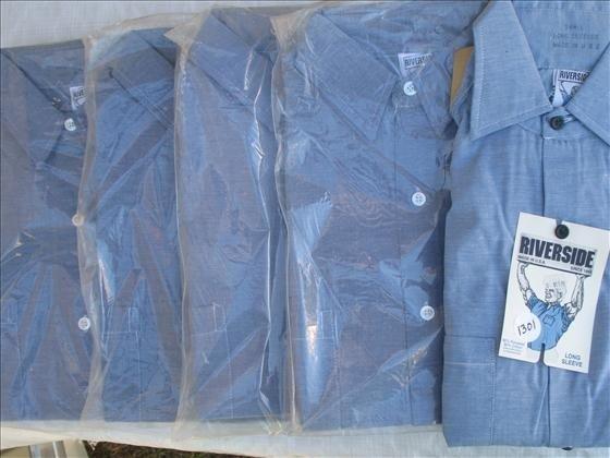 1302: 5 Men's Work Shirts, 4 short sleeve & 1 long