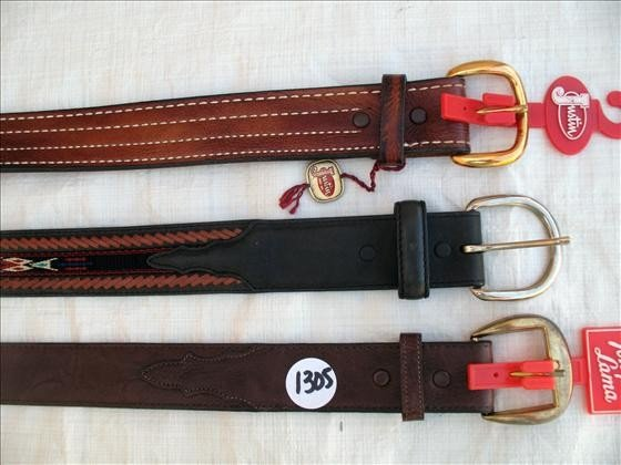 1305: 3 Leather Belts