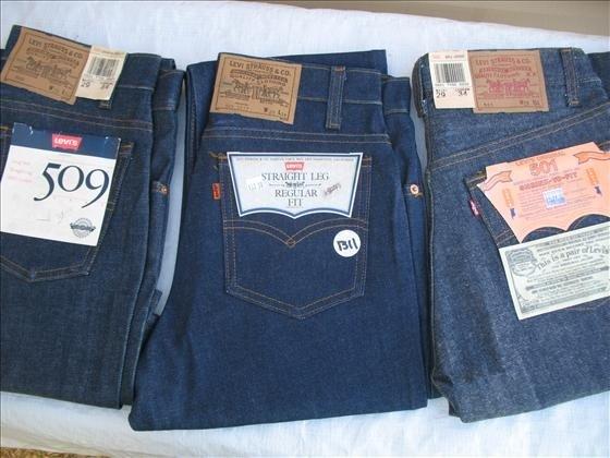 1311: 3 pr. Men's Levi's Blue Denim Jeans