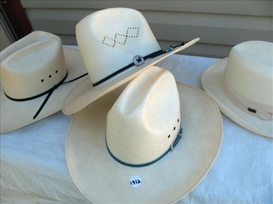 1312: 4 Cowboy Hats, woven