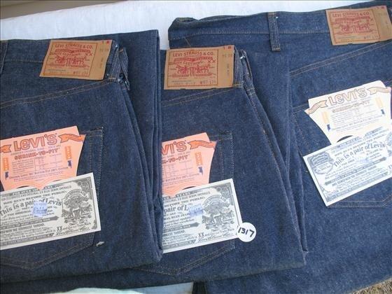 1317: 3 Pr. Men's Levi's Blue Denim Jeans