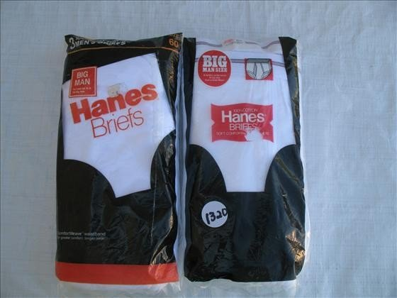 1320: 6 pr. Men's Cotton Briefs - Hanes