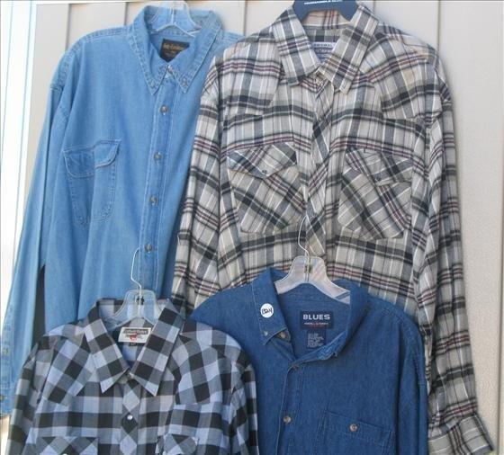 1324: 4 Men's Long Sleeve Shirts