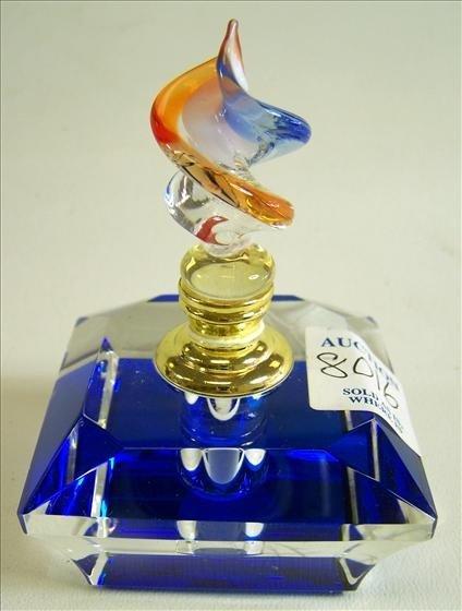 8016: Murano Glass - Perfume Cobalt blue