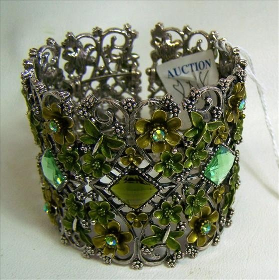 8018: Murano Glass - Cuff Bracelet