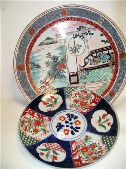 6002: 2 Oriental chargers - large round