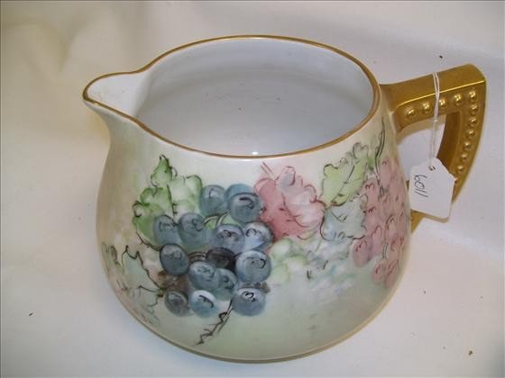 6011: Hand painted juice pitcher