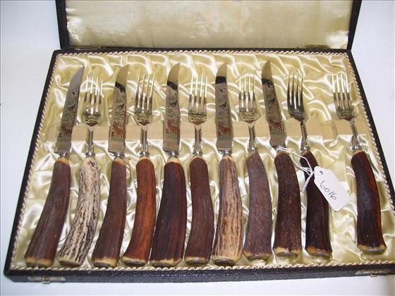 6015: Knife and fork set in box 12 pc