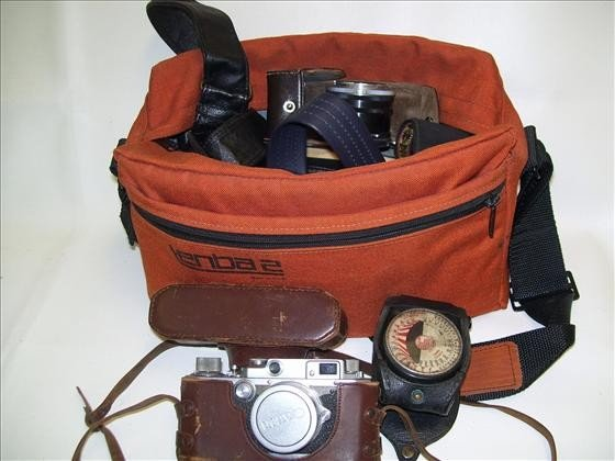 6038: Camera bag with straps Cannon