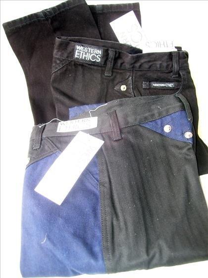 1302: 2 women's size  3 denim jeans