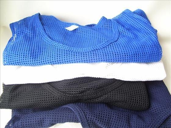 1310: 4 men's mesh net tank tops