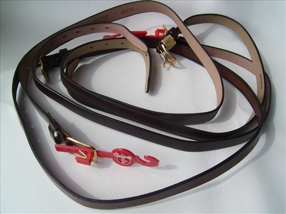 1318: 4 belts - size 30 - Leather - Navano