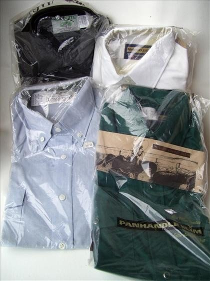1319: 4 men's dress shirts SIZE 14 1/2
