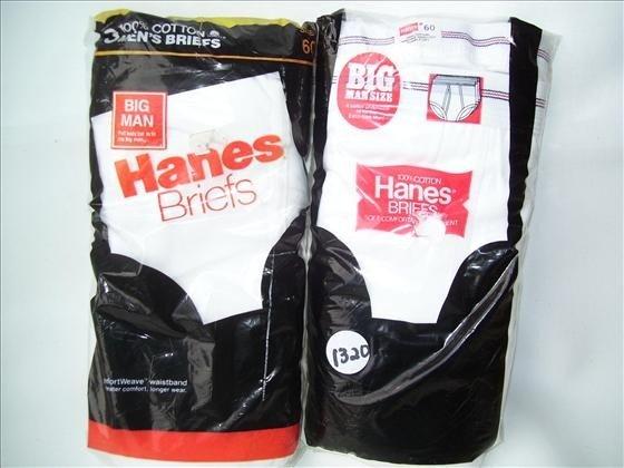 1320: 6 pr men's cotton briefs
