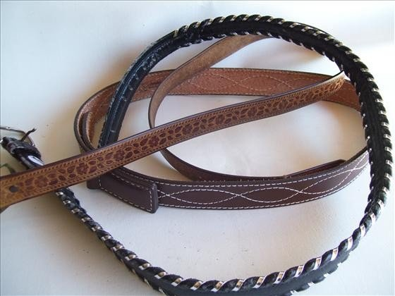 3012: 3 men's belts - 40 and 42