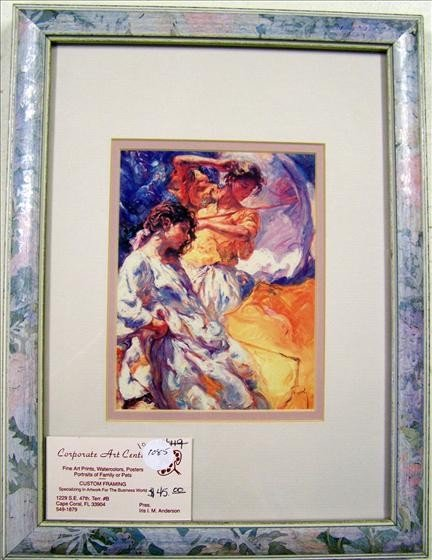 1085: Two Women Floral Frame