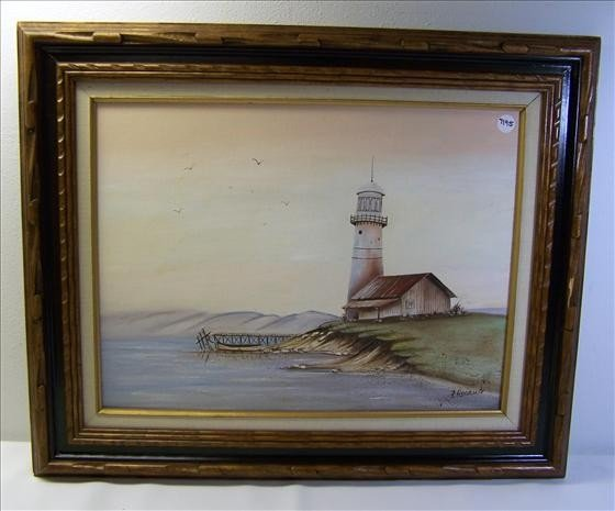 1116: Oil Painting Of Lighthouse