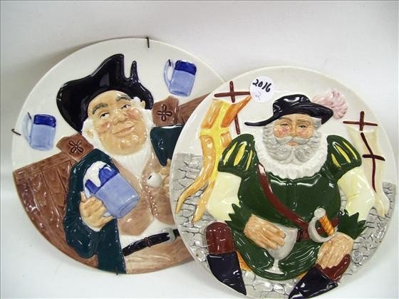 2016: 2 plates - Davenport Pottery