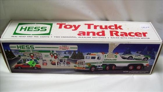 2020: Hess toy truck and racer